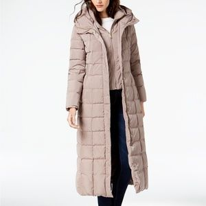 NEW Cole Haan Hooded Down Maxi Puffer Coat